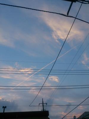 飛行機雲@秩父