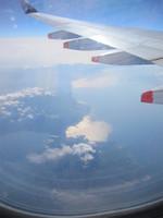 航空機より桜島を望む